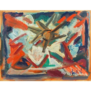 'Abstract, Coral and Ivory' by Victor Thall, New York School Abstraction, Whitney Museum, Works Progress Administration For Sale