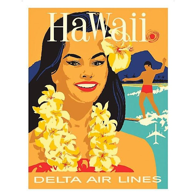 Matted and Framed Vintage Hawaii Travel Poster - Image 2 of 4