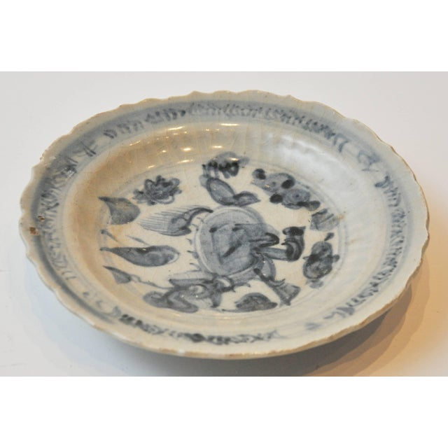 Asian 19th Century Collection of Blue and Bone Colored Chinese Porcelain For Sale - Image 3 of 9