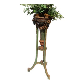 Late 19 C. French Planter Jardinière Tall Fern Stand From the Giraud Foster Estate Bel Fontaine Mansion in Lenox Mass.