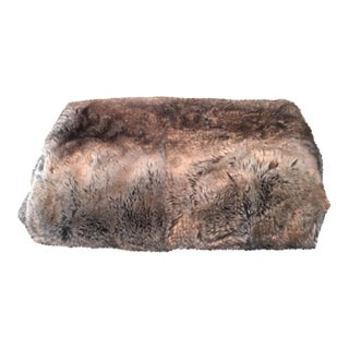 Faux Fur Sable Colored Throw