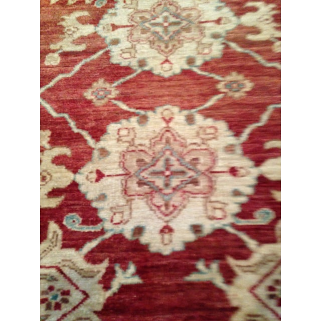 Oriental Handmade Red Rug - 8' X 10' For Sale In San Francisco - Image 6 of 7