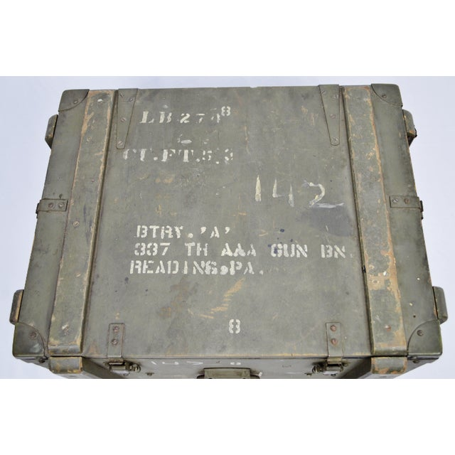 Mid 19th Century United States Army AAA Gun Site Equipment Crate For Sale - Image 5 of 13