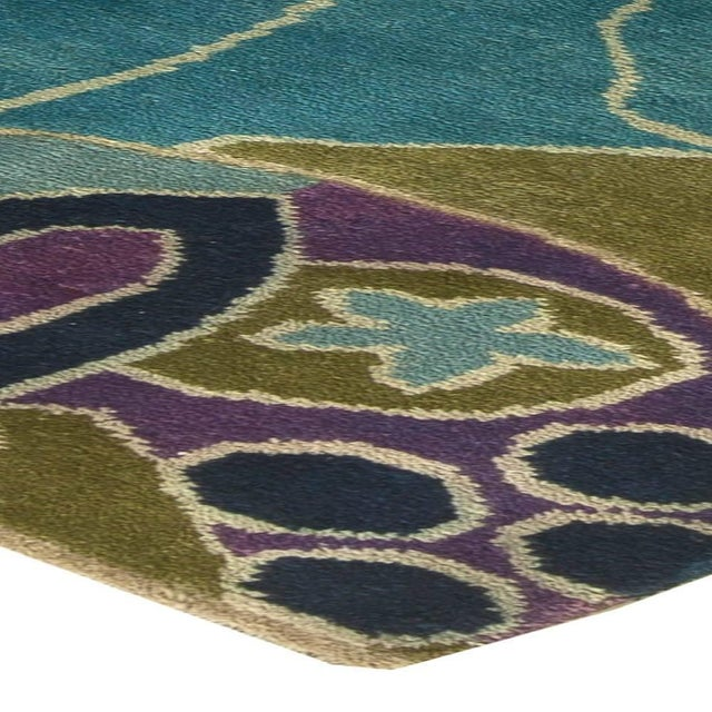 Textile Bold Vintage French Art Deco Rug For Sale - Image 7 of 8