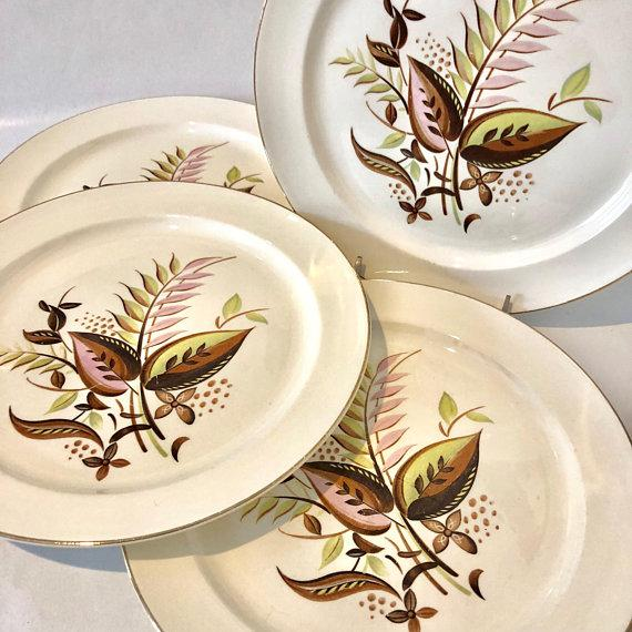 Taylor Smith Mid-Century Modern Dinner Plates Set of 4 - Image 2 of  sc 1 st  Chairish & Taylor Smith Mid-Century Modern Dinner Plates Set of 4 | Chairish