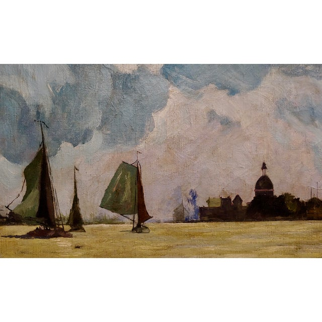 Art Nouveau Karl Brenner - View of Istanbul -Oil Painting - C1910s For Sale - Image 3 of 8