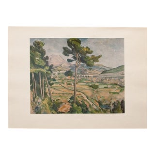 "Vintage ""Mont Sainte-Victoire"" Lithograph by Paul Cezanne For Sale"
