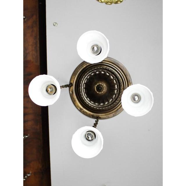 Embossed Flush Mount Light Fixture (4-Light) - Image 5 of 7