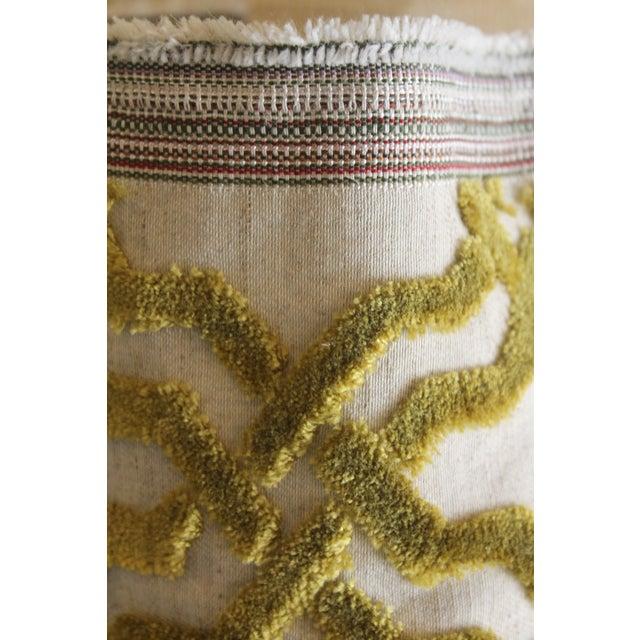 Duralee Cut Velvet Linen Fabric - 1 Yard For Sale - Image 4 of 4