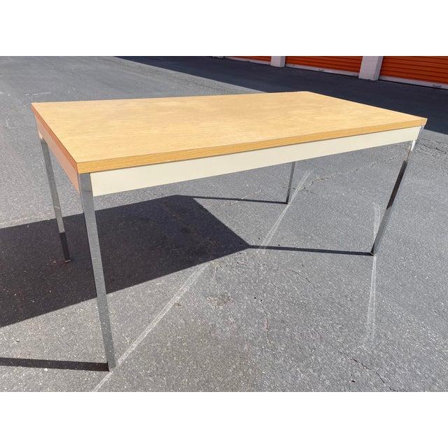 1980s Vintage Steelcase Metal Writing Desk For Sale - Image 13 of 13
