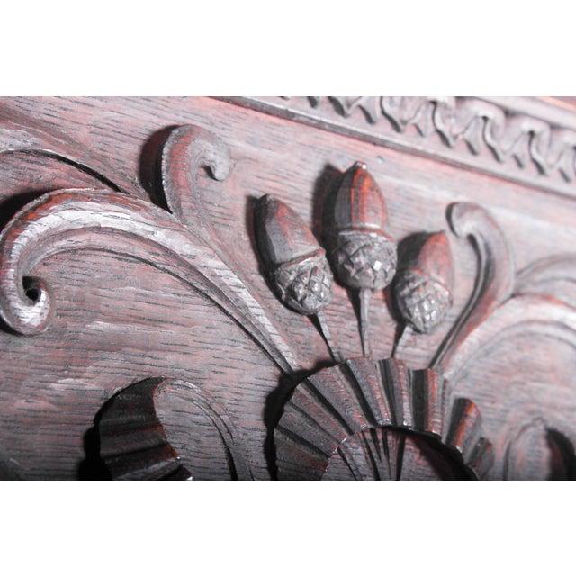 C. 1880 Vanderbilt Mansion Original Hand-Carved Oak Lion Wall Panel For Sale In Detroit - Image 6 of 11