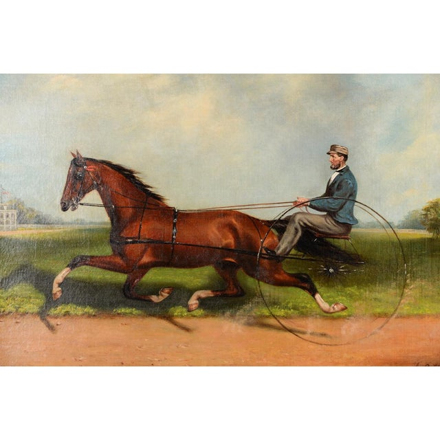 Rustic James Hill -19th Century Famous Horse Racing Oil Painting For Sale - Image 3 of 9
