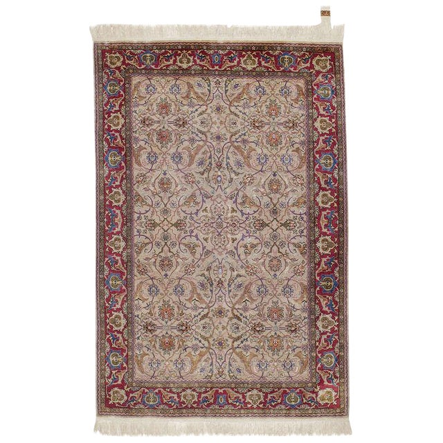 Silk Hereke Rug For Sale