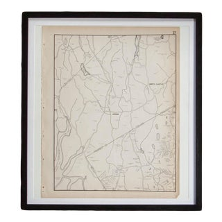 Vintage Armonk and North Castle Ny Map For Sale