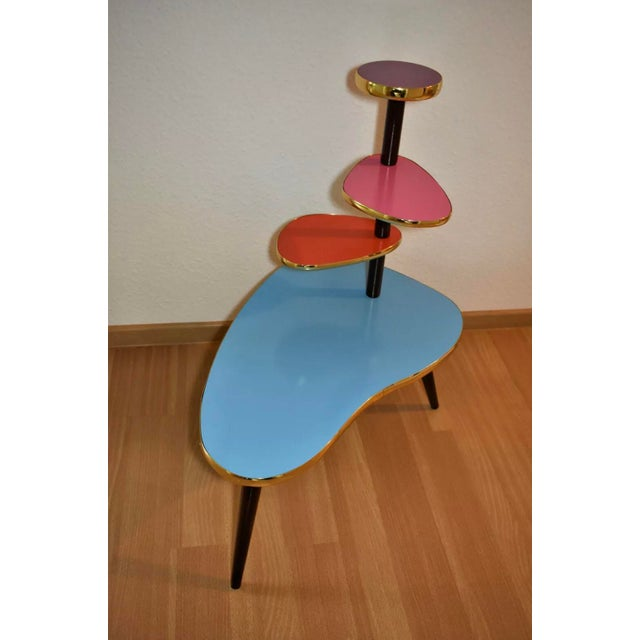 I have this absolutely stunning vintage 1950's atomic area German Plant Stand. Vintage Retro German Plant Stand Beautiful...
