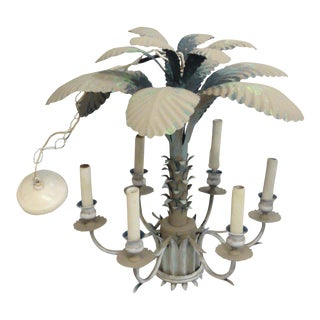 Florida Vintage Palm Tree Chandelier