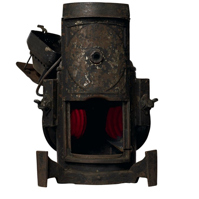 Black 19th Century Industrial Adlake Rare Railroad Switching Light/Lantern For Sale - Image 8 of 13