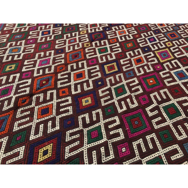 Vintage Turkish Kilim Rug- 7′1″ × 9′10″ - Image 7 of 10