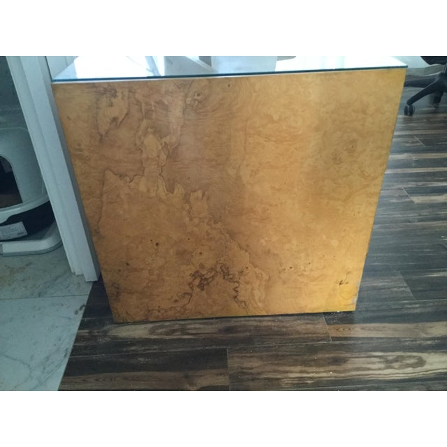 Italian Burl Wood Desk For Sale In Palm Springs - Image 6 of 11