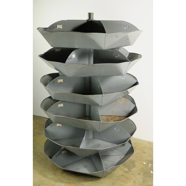 Industrial Rotating Storage Bin by Frick and Gallagher For Sale - Image 10 of 10