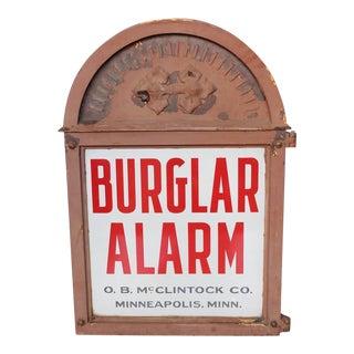 Early 20th C. Vintage O.B. McClintock Bank Vault Burglar Alarm For Sale