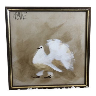 Mid-Century Modern Bird/Dove Painting by McCaine