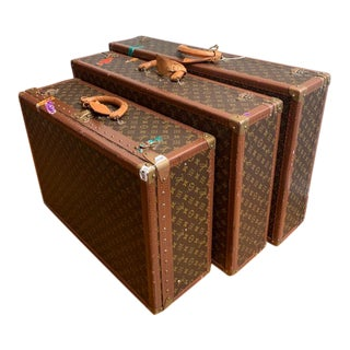 Vintage Louis Vuitton Trunk Set - 3 Pieces For Sale
