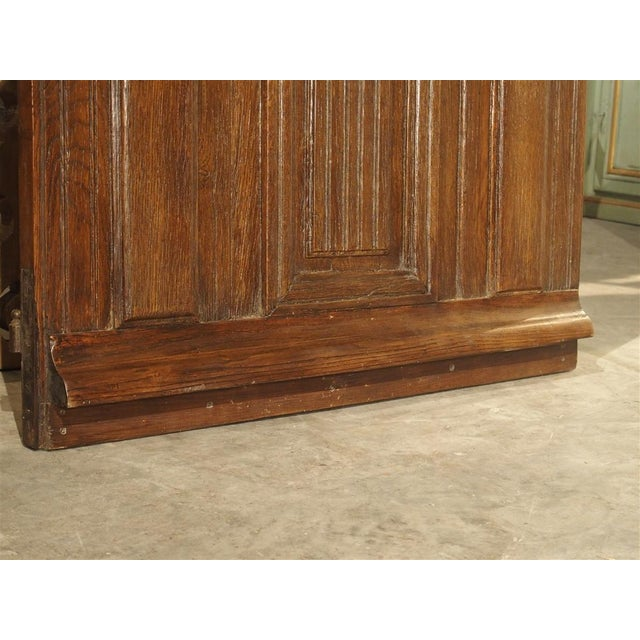 Early 1900s French Louis XIV Style Oak Entry Door For Sale - Image 9 of 11