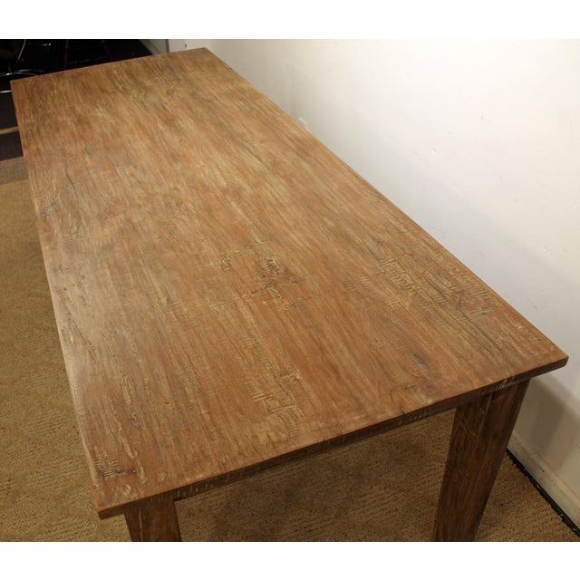 """French Country Farm Rustic Dining Table 90"""" Long - Image 4 of 11"""