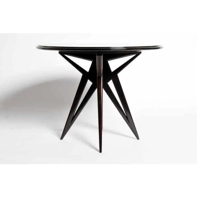 1940s Mid-Century Veneer Top French Table For Sale - Image 5 of 11