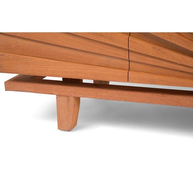 R. Mapache Signed Sunburst Teak Sideboard For Sale In Phoenix - Image 6 of 8