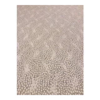 Old World Weavers Flurry - Modern Snow Grey & White Multipurpose Fabric - 4.75 Yards For Sale