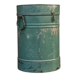 Cyan Indian Grain Drum Container For Sale