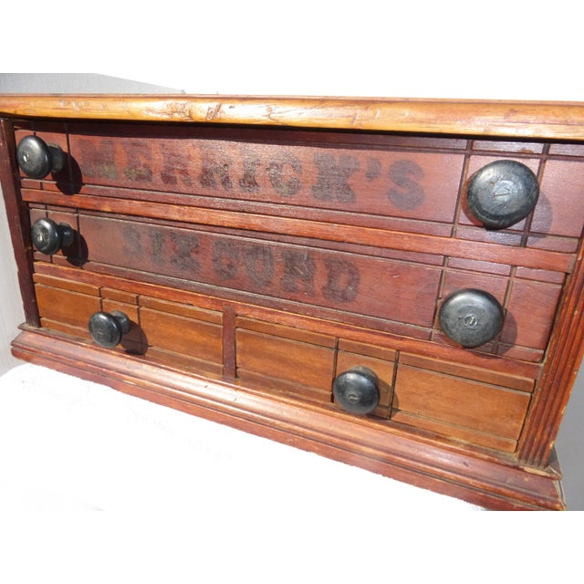 Antique Merrick's Six Cord Thread Box Cabinet For Sale - Image 10 of 11 - Antique Merrick's Six Cord Thread Box Cabinet Chairish