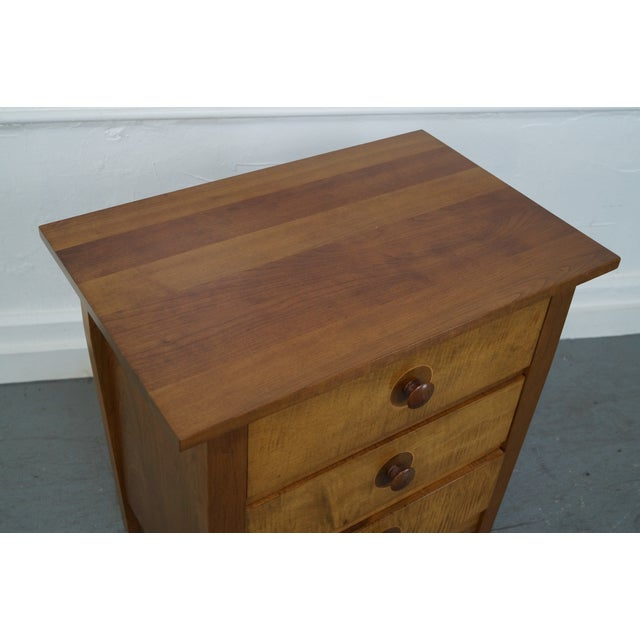 Stickley Mission Cherry 3 Drawer Nightstand - Pair - Image 10 of 10