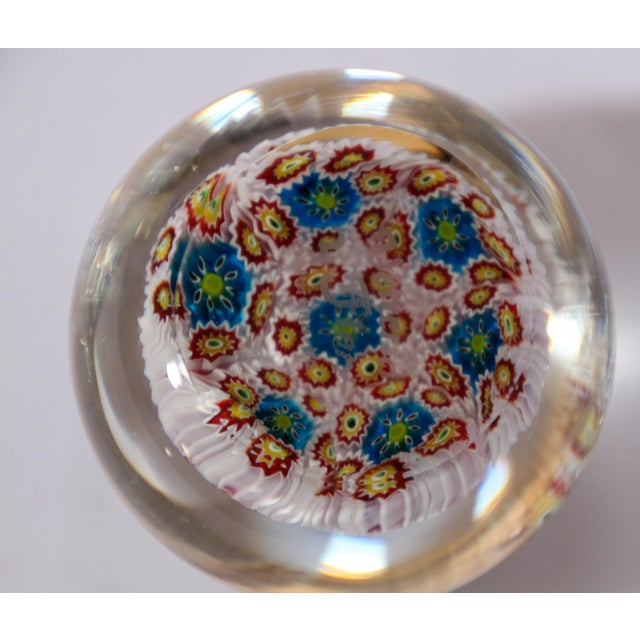 Italian Vetreria Murano Venini Art Glass Millefiori Collectable Paperweight For Sale In Los Angeles - Image 6 of 10