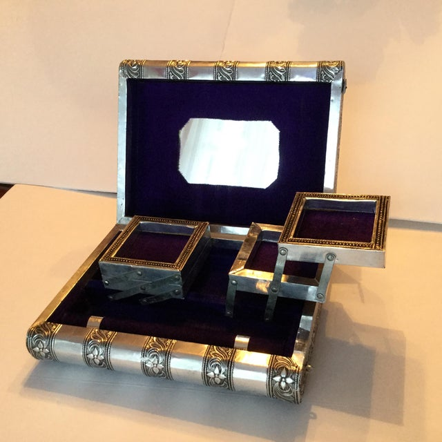 Silver Metal Jewelry Box - Image 9 of 11