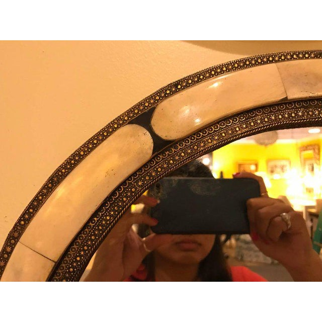 Islamic 1990s White Brass Moorish Style Mirrors - a Pair For Sale - Image 3 of 9