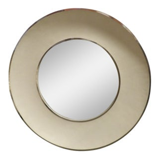 Shagreen Three-Dimensional Concave Framed Mirror For Sale