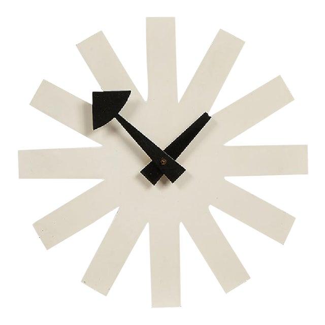 George Nelson Associates Model 2213 White Asterisk Clock for Howard Miller, Circa 1950 For Sale