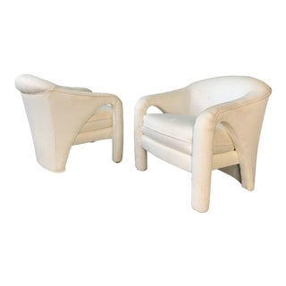 Pair of Vladimir Kagan Sculptural Club Chairs For Sale