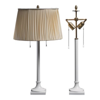 Pair of white porcelain table lamps by KPM Berlin, 1930s For Sale