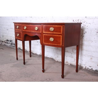 Kindel Inlaid Mahogany Bow Front Federal Style Sideboard Credenza Preview