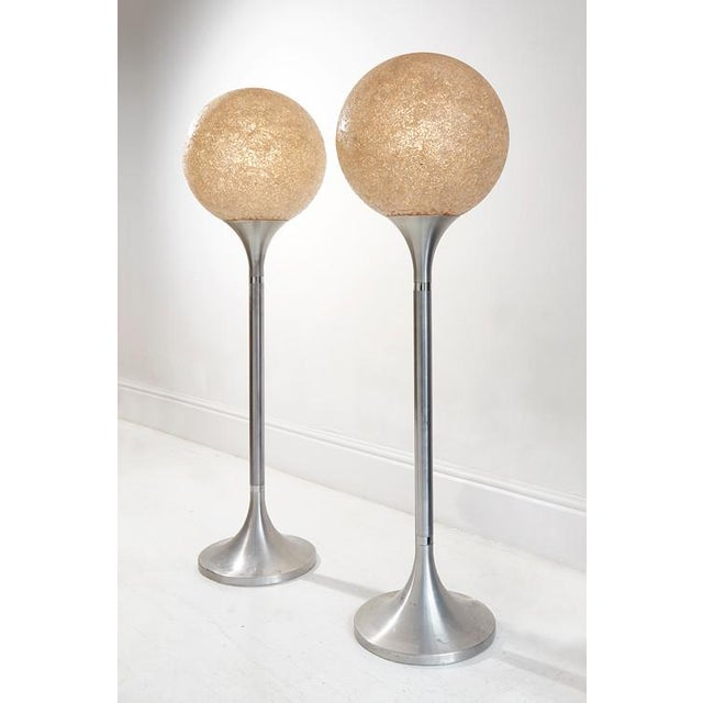 Pair of White Mosaic Glass Lamps For Sale - Image 4 of 4