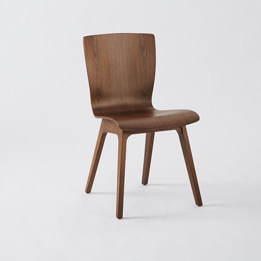 West Elm Crest Bentwood Dining Chair A more refined take on our popular Scoop-Back chair, the Crest Bentwood Chair's curvy...