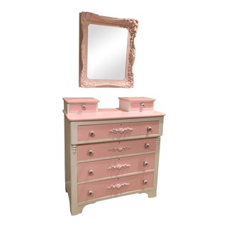 1920s Victorian Style Glove Box Dresser With Mirror- a Pair For Sale