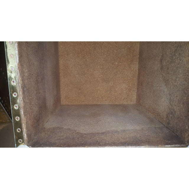Sarreid Ltd. Brass Cube Side Tables - a Pair For Sale - Image 10 of 10