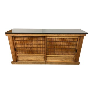 Early 20th Century Japanese Tansu With Granite Top For Sale