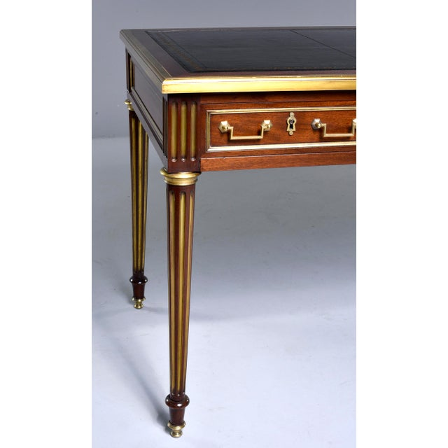 Louis XVI Style Mahogany Writing Desk With Brass Mounts For Sale - Image 12 of 13