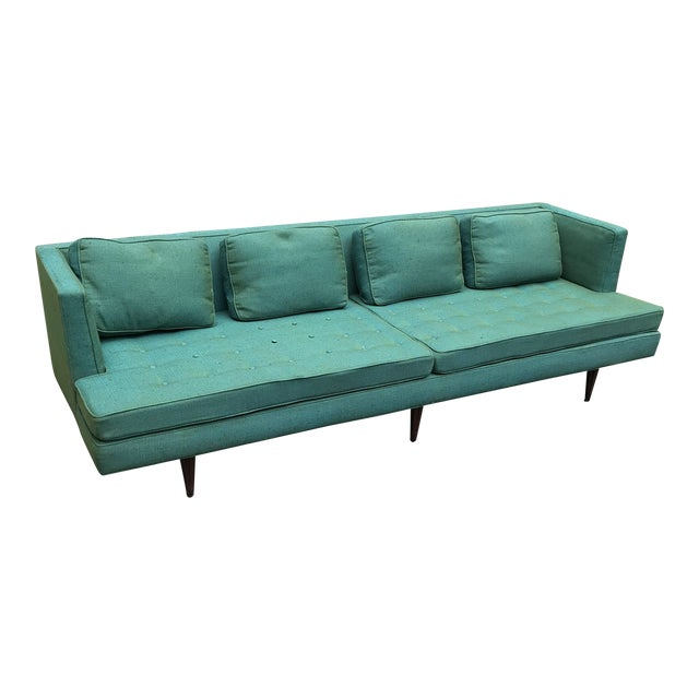 Edward Wormley 4907a Sofa for Dunbar With Knoll Fabric & Rosewood Legs For Sale